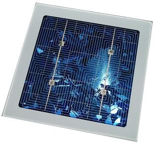 Cellule solaire photovoltaïque en silicium polycristalin