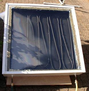 panneau solaire thermique auto-construit